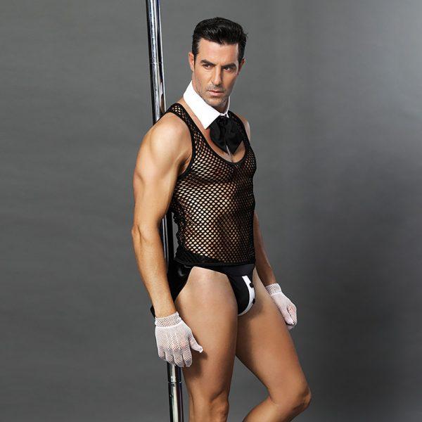 Sexy Underwear, Sexy Perspective Male Servant Sexy Lingerie Nightclub Bar Waiter Male Maid Costume Sexy Uniform