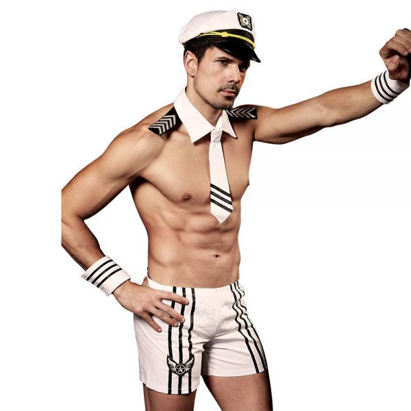 Sexy White Navy Outfit Mens Temptation Uniform